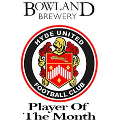 Bowland Brewery sponsored Player of the Month