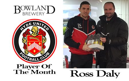 Bowland Brewery November Player of the Month Winner