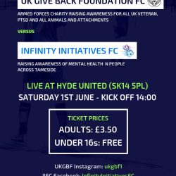 Charity Game - UKGBF v Infinity Initiatives FC at Ewen Fields