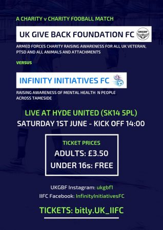 Charity Game – UKGBF v Infinity Initiatives FC at Ewen Fields
