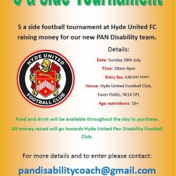 5 A Side Tournament to raise money for PAN Disability Team