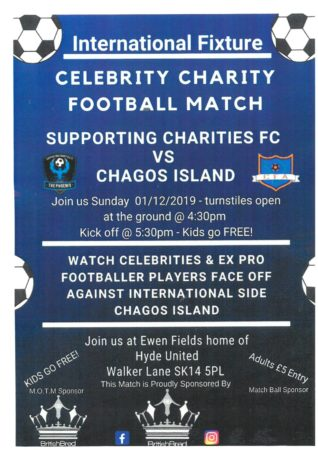 Celebrity  Charity Match This Sunday At Ewen Fields