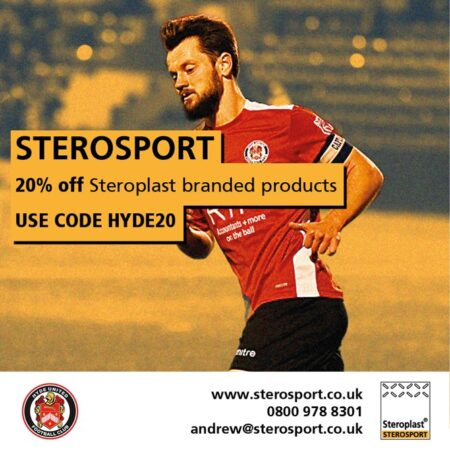 Hyde United Partner With Sterosport